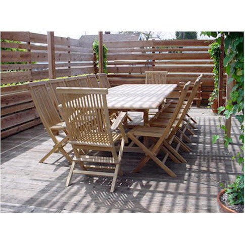 Anderson Teak Valencia Rectangular Extension Table + 14 Classic Folding Chairs - American Teak