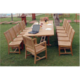 Anderson Teak Valencia Double Extension Table + 14 Rialto Dining Chairs - American Teak