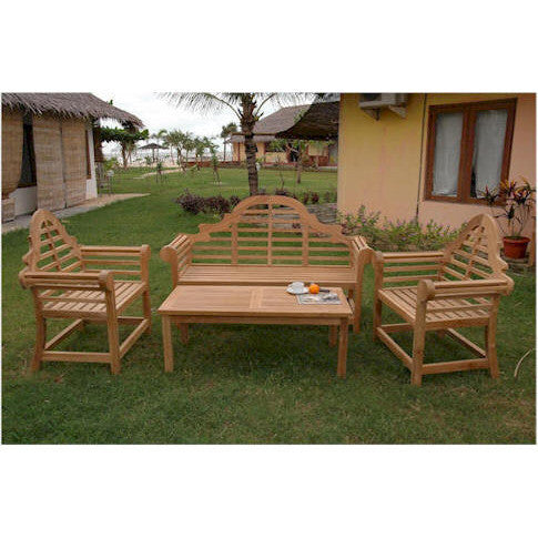 Anderson Teak Marlborough Bench Set - American Teak