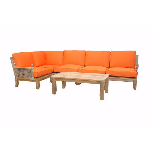 Anderson Teak Extended Luxe Modular Seating Collection - American Teak