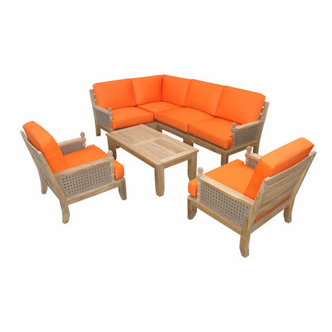 Anderson Teak Luxe Modular Seating Collection With Armchairs - American Teak