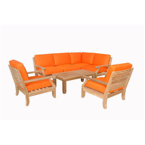 Anderson Teak Riviera Luxe Modular Collection With Armchairs - American Teak
