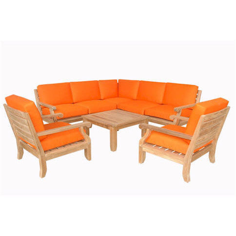 Anderson Teak Extended Riviera Luxe Modular Collection With Armchairs - American Teak