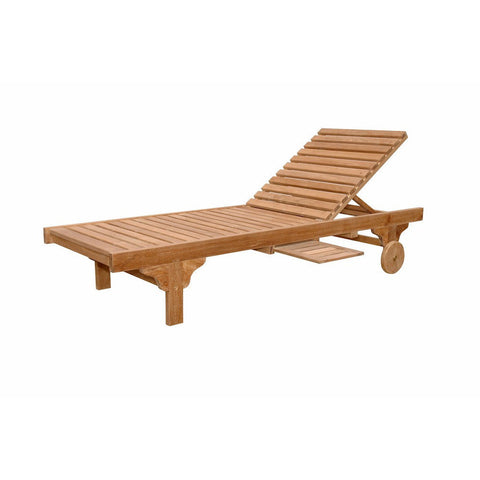Anderson Teak Capri Sun Lounger Adjusted Back & Side Tray - American Teak