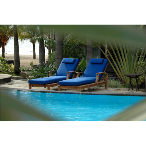 Brianna Sun Lounger with Arm - American Teak