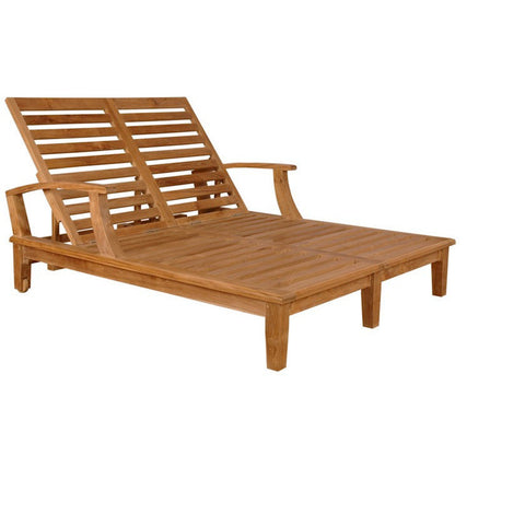 Brianna Double Sun Lounger with Arm - American Teak