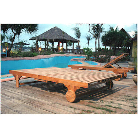 Anderson Teak Bel-Air Double Sun Lounger Set of 2 - American Teak