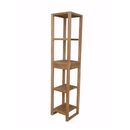 Anderson Teak SPA Towel Table with 4-Shelf - American Teak