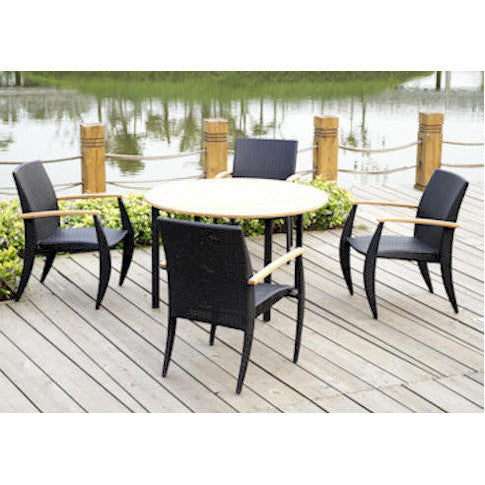 Anderson Teak Venetian Dining Table Set - American Teak