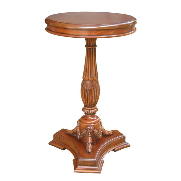 Occasional Flower Mahogany Side Table - American Teak