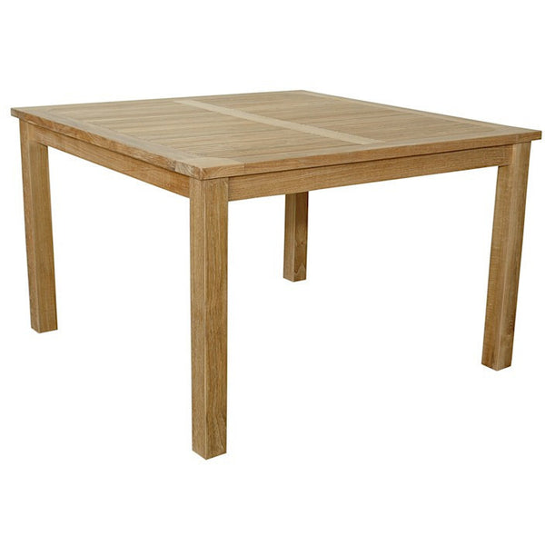 "Anderson Teak Windsor 47"" Square Table Small Slats - American Teak"