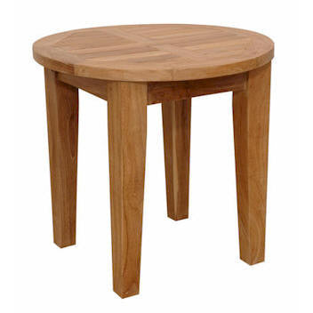 "Anderson Teak Brianna 20"" Round Side Table - American Teak"