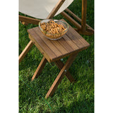 "Teakworks4u 11"" Folding Teak Accent Bench/Table PTB-119AT - American Teak"