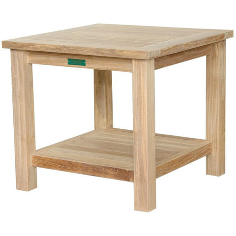 "Anderson Teak 22"" Square 2-Tier Side Table TB-222S - American Teak"