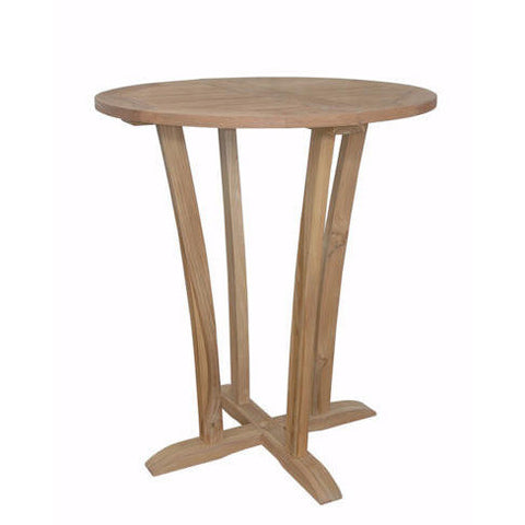 "Anderson Teak Descanso 35"" Round Bar Table - American Teak"