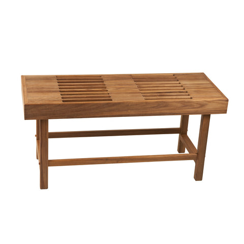 Teakworks4u Rigid Leg Bench with Slats - American Teak