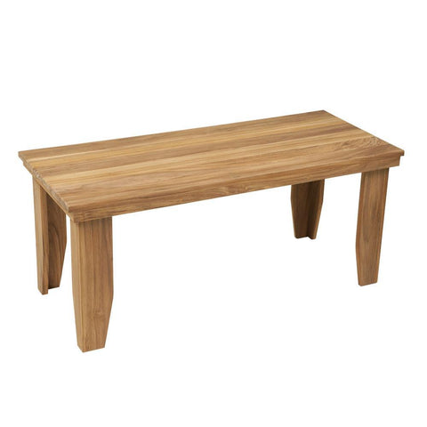 "Teakworks4u 42"" Teak Backless Bench - American Teak"