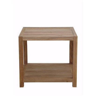 Anderson Teak Glenmore Side Table with Shelf - American Teak