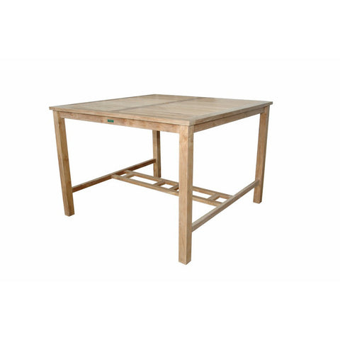 "Anderson Teak 59"" Windsor Square Bar Table - American Teak"