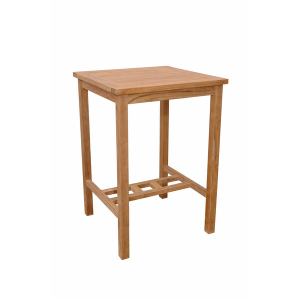"Anderson Teak Avalon 27"" Square Bar Table - American Teak"