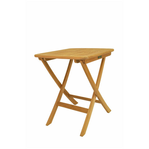 "Anderson Teak Windsor 24"" Square Picnic Folding Table - American Teak"
