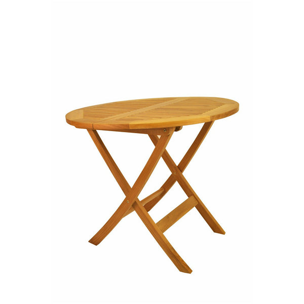 "Anderson Teak Windsor 31"" Round Picnic Folding Table - American Teak"
