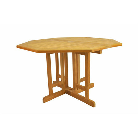 "Anderson Teak Butterfly 47"" Octagonal Folding Table - American Teak"