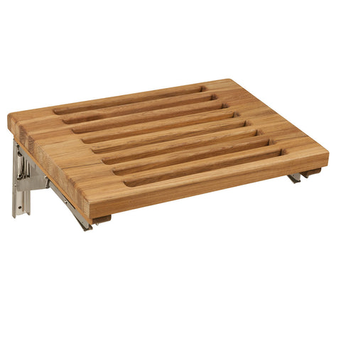 "Teakworks4u 18"" Wall Mount Fold Down Bench with Slats PTBF-18WS - American Teak"