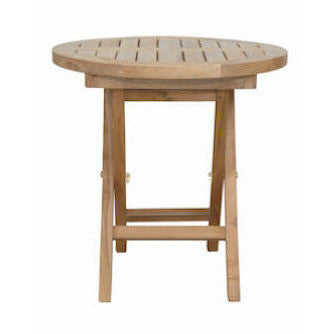 "Anderson Teak Montage 20"" Round Side Folding Table - American Teak"