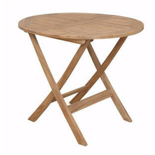 "Anderson Teak Chester 32"" Round Folding Picnic Table - American Teak"