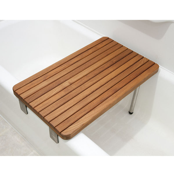 Teakworks4u Teak ADA Removable Seat for Bathtubs - American Teak