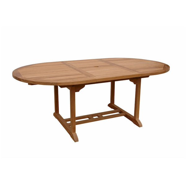 "Anderson Teak Bahama 71"" Oval Extension Table With Extra Thick Wood - American Teak"