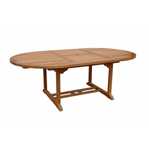 "Anderson Teak Bahama 87"" Oval Extension Table Extra Thick Wood - American Teak"