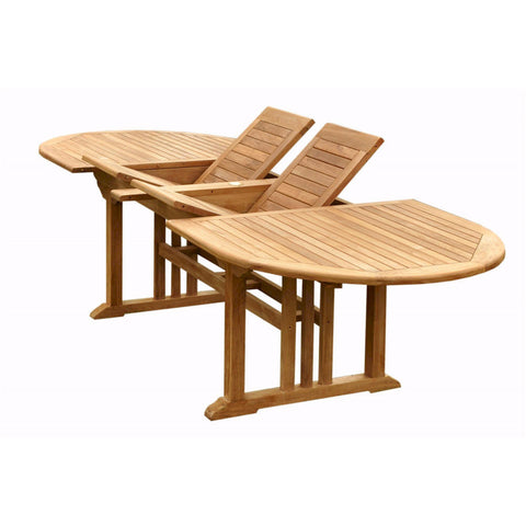 "Anderson Teak Sahara 106"" Oval Double Ext. Table - American Teak"
