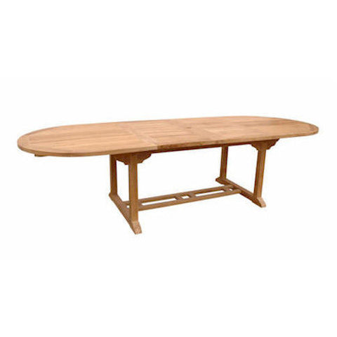 "Anderson Teak Bahama 117"" Oval Extension Table w/ Double Extensions - American Teak"