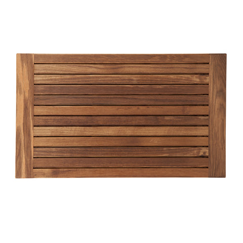 "Teakworks4u Teak Mat with Side Edges - 30"" x 18"" - American Teak"