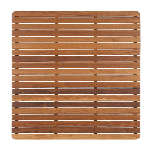 "Teakworks4u Teak Bath or Shower Mat with Rounded Corners - 30"" x 30"" PTMR-3030F - American Teak"