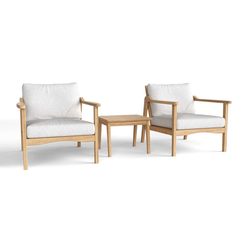 Amalfi Relax 3-Piece Deep Seating Collection - American Teak