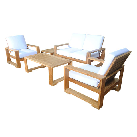 Capistrano 5-Piece Deep Seating Loveseat Collection - American Teak