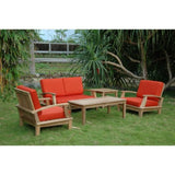 Anderson Teak 5 Piece Brianna Deep Seating Lounge Set Set-115 - American Teak