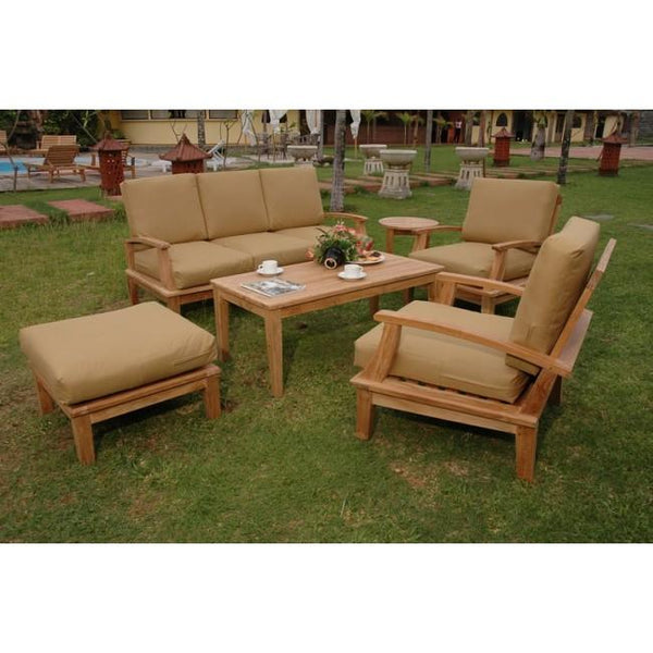 Anderson Teak 5 Piece Brianna Deep Seating Lounge Set Set-41 - American Teak