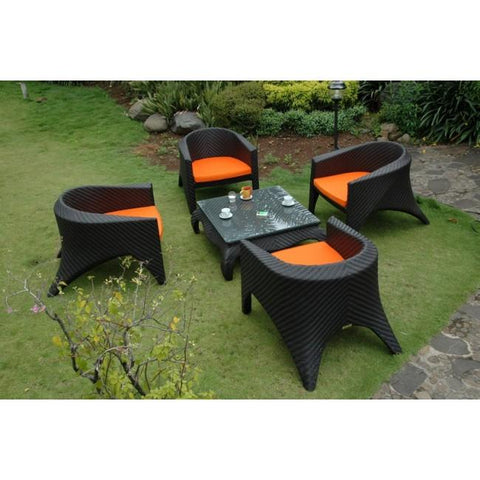 Anderson Teak 5 Piece Montebello Deep Seating Set SR-035 - American Teak