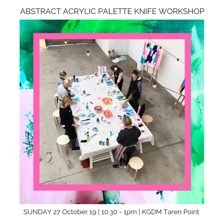 Abstract Acrylic Palette Knife Workshop | Sunday 27.10.19 10:30 - 1pm