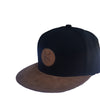 Black and Tan Snapback Cap