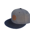 Grey and Black Snapback Cap