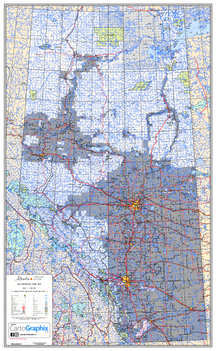 "Alberta Provincial Base Map - 32""W x 50""H"