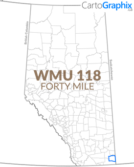 "WMU 118 Forty Mile - 36""W x 24""H"