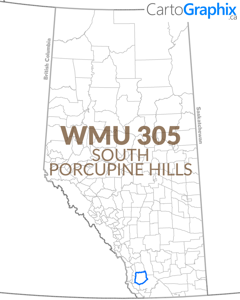 "WMU 305 South Porcupine Hills - 36""W x 24""H"