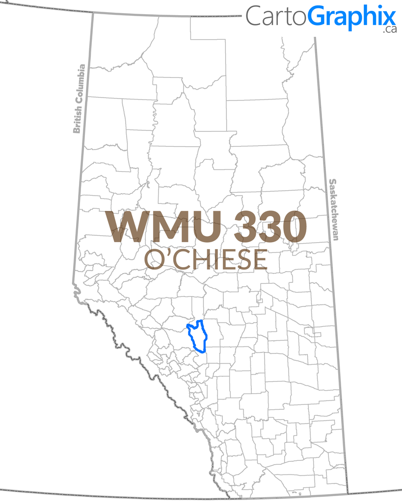 WMU 330 O'Chiese Map
