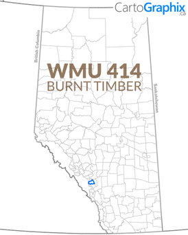 WMU 414 Burnt Timber Map